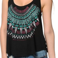 Starling Tribal Black Tank Top