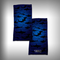 Monk Wrap Neck Gaiter - Face Shield - Bandana - Shark Frenzy
