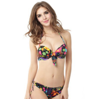 Women's Push up Halter Aztec Bikini Set Swimsuits
