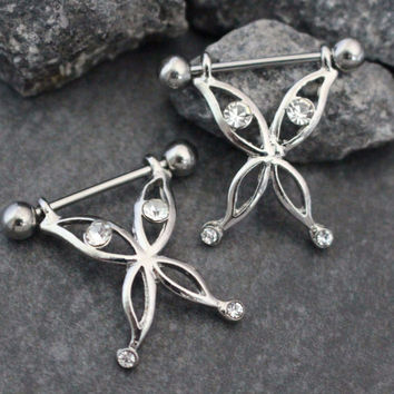 Butterfly Nipple Ring