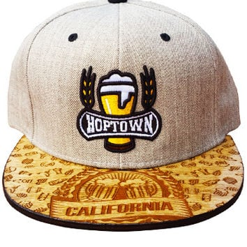 Hoptown Snapback Snapback Hat Wood Etch!