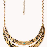 Globetrotter Curved Bib Necklace