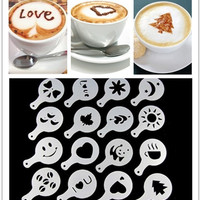 Hot Deal Stylish Coffee Hot Sale On Sale Cute Easy Tools Kitchen Helper Latte Art Mould [6033523265]