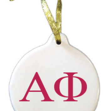 custom ornaments,alpha phi, greek life ornaments,ceramic ornaments,personalized ornaments,fraternity, christmas ornaments, sorority