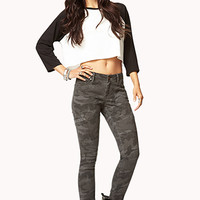 Edgy Camo Skinny Pants | FOREVER 21 - 2062001780