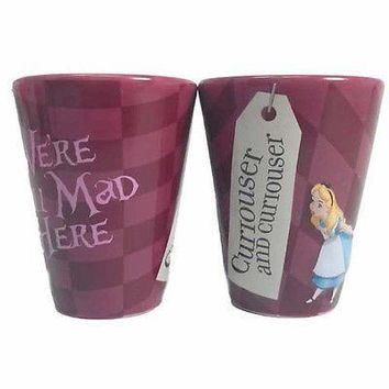 disney parks alice in wonderland we're all mad here 2 oz shot glass new