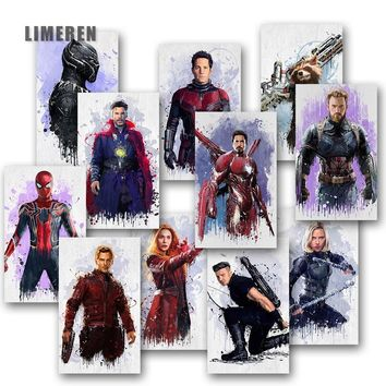 The Avenger Movie Star Wall Poster Print Canvas Oil Painting Wall Picture For Unique Gift Home Decor spider man iron man