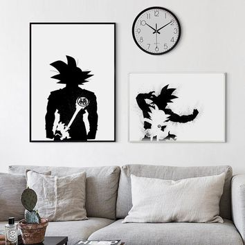 Nordic Decor Dragon Ball Super Japan Anime Abstract Goku Canvas Painting Poster And Print Picture Wall Art Boys Room Home Decor