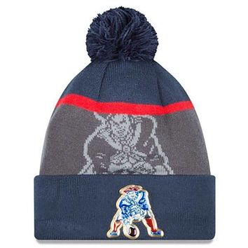 New England Patriots Adult Gold Collection Retro Knit Hat 1