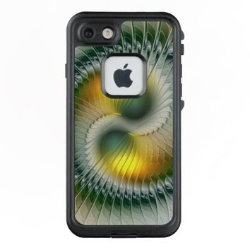 Yin Yang Green Yellow Abstract Colorful Fractal LifeProof® FRĒ® iPhone 7 Case