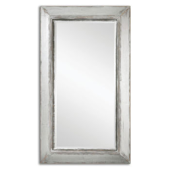 Uttermost 13880 Lucanus Distressed Aged Silver and Natural Wood Mirror