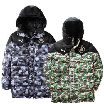 ca kuyou Mens Bape X Puma Jacket 2colors
