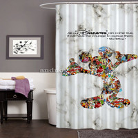 "Mickey Mouse Dream Disney Best Design High Quality Shower Curtain 60"" x 72"""