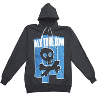All Time Low Men's  Skull Zippered Hooded Sweatshirt Black