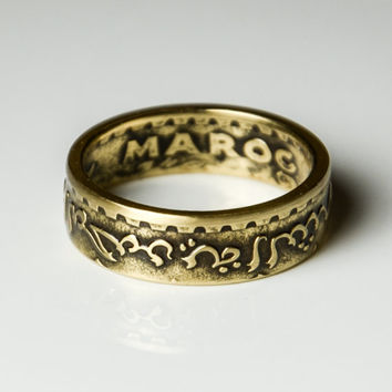 Coin Ring - Morocco - 20 Franc -  Size 8 1/2