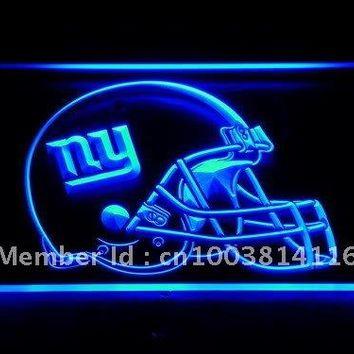 248 NY New York Giants Helmet Pub LED Neon Sign with On/Off Switch 20+ Colors 5 Sizes to choose