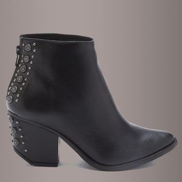 Matisse ORWELL Black Leather Studded Ankle Bootie