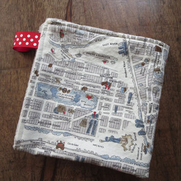 New York Baby, Lovey Blanket, Small Minky Security Blanket, NYC Map
