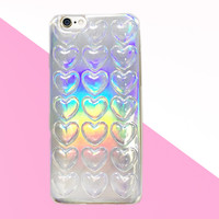 GALAXY HOLOGRAM HEART PATTERN IPHONE CASE (6/6S,6+/6S+) from Storeunic