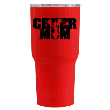 RTIC 20 oz Cheer Mom on Red Gloss Tumbler