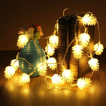 20 LED Pinecone Lights