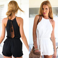 Casual Solid Summer Bodycon Jumpsuit Romper