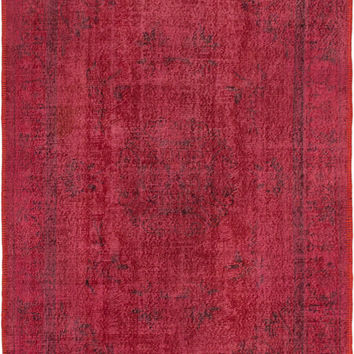 "5'11 x 8'6"" Pink Turkish Overdyed Rug"