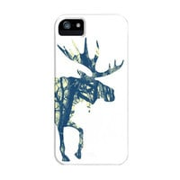 Moose Art iPhone 5 Case 4S 4 3GS 3G New Trees Blue Yellow