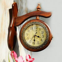 Vintage Double Sided Quiet Decoration Clock [6282971526]