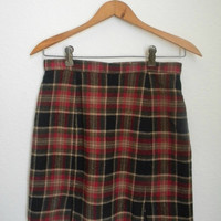 Vintage plaid mini skirt by Easy Pieces New York