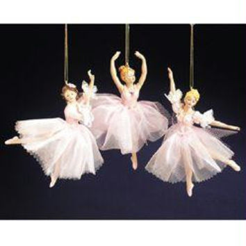 12 Ballerina Christmas Ornaments - Three Different Poses