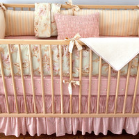 Celery Odile Girl Crib Bedding Set