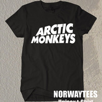 Arctic Monkeys Shirt The Arctic Monkeys Symbol  Black and White t-Shirt For Men Or Women Size TS 49