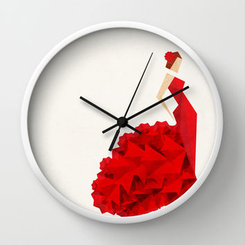 The Dancer (Flamenco) Wall Clock by VessDSign