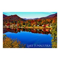 42 X 28 LAKE JUNALUSKA PREMIUM CANVAS GLOSS POSTER