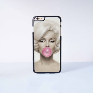 "Marilyn Monroe Bubble Gum Plastic Phone Case For iPhone iPhone 6 Plus (5.5"") More Case Style Can Be Selected"