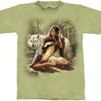 Protector Wolf The Mountain Tee Shirt Adult Size M - XXXL