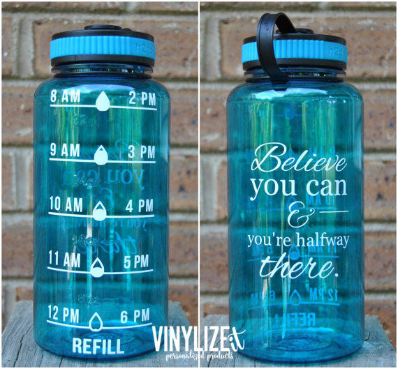 32 Oz Bpa Free Water Intake Tracker From Getvinylized On Etsy