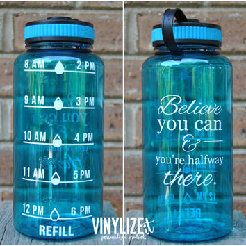 32 oz BPA Free Water intake tracker, Water schedule bottle, Motivational water bottle, Water bottle with tim, water intake bottle