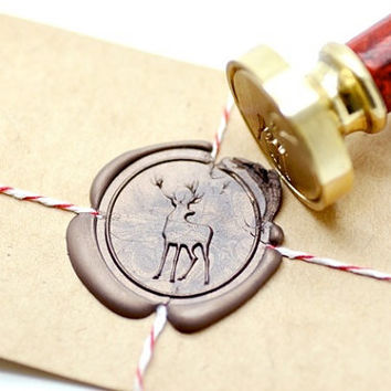 Deer Woodland Animal B20 Gold Plated Wax Seal Stamp x 1
