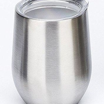TianJi 9 OZ Stainless Steel Tumbler With Lid Vacuum Insulated Tumbler Mug Travel Cup Heat Preservation Wine Glasses Great for Red Wine Cocktail Liquors and Nonalcoholic Beverages