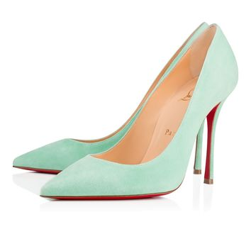 Christian Louboutin Cl Decoltish Opal Suede 17s Pumps 3.17e+178 - Best Online Sale