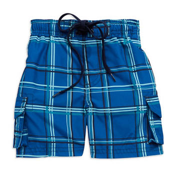 Kanu Boys 2-7 Plaid Swimtrunks