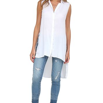 White Button Down Tunic at Blush Boutique Miami - ShopBlush.com : Blush Boutique Miami – ShopBlush.com
