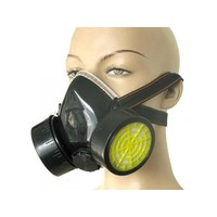 Double Cartridges Anti-dust Spray Paint Respirator Mask Breathing Mask for Industrial Gas Chemical Painting Use
