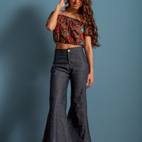 Jean bell bottoms, high waist bell bottoms, high waist jeans, wide bell bottoms
