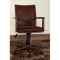 Sunny Designs 2961DC Office Chair with Arm In Dark Chocolate