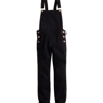 H&M - Bib Overall Pants - Black - Kids