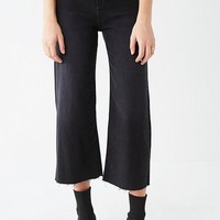 BDG Cropped Denim Culotte - Washed Black | Urban Outfitters