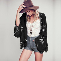 Summer Embroidery Scarf Tops Jacket [4918392452]